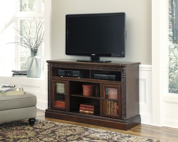 North Shore Traditional Dark Brown Wood LG TV Stands W553-68-VAR