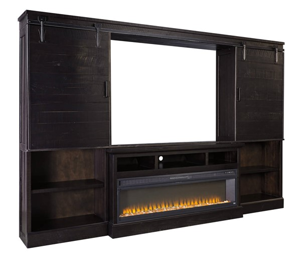Ashley Furniture Sharlowe Black Entertainment Center With