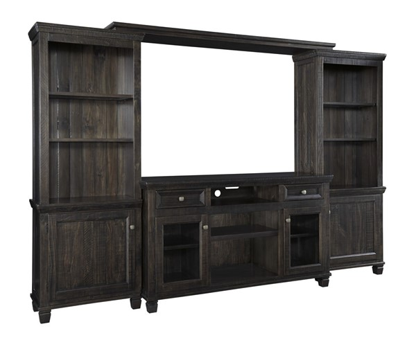 Townser Traditional Grayish Brown Solid Wood Entertainment Center W636-ENT-S1