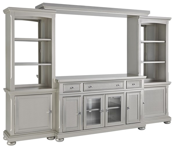 Discontinued Ashley Furniture: Ashley Furniture Coralayne Silver Entertainment Center