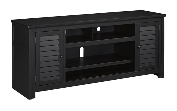 Brasenhaus Vintage Casual Black Wood Extra Large TV Stand W661-48