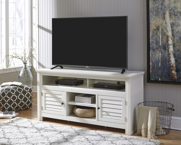 Idonburg Vintage Casual White Large TV Stand W662-38