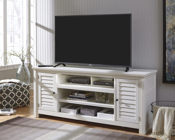 Idonburg Vintage Casual White Wood Medium TV Stands W662-TVS