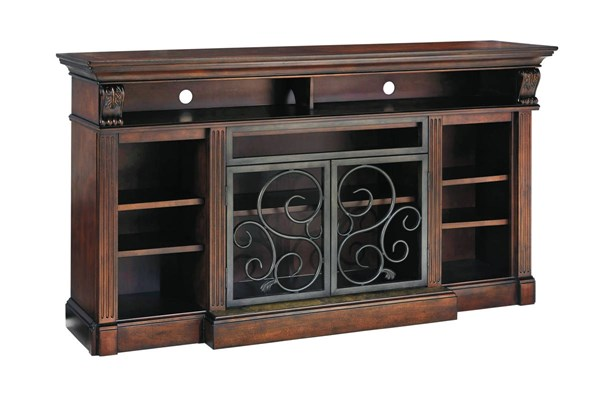Alymere Traditional Classics Rustic Brown XL TV Stand W/o Fireplace W669-88