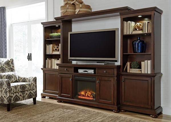 Ashley Furniture Porter Brown Entertainment Center With