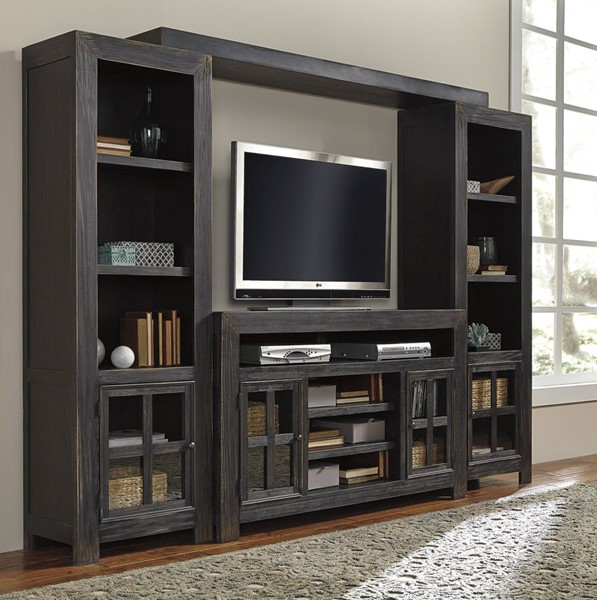 Gavelston Black Entertainment Centers W/o Fireplace W732-ENT-VAR
