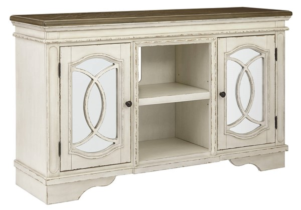 Ashley Furniture Realyn White Large TV Stand W743-48