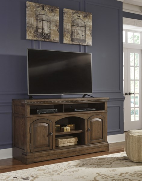 Larrenton Traditional Classics Grayish Brown Wood Large TV Stand W790-22