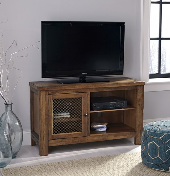 Tamonie Casual Rustic Brown Solid Wood TV Stand With Fireplace Option W830-18