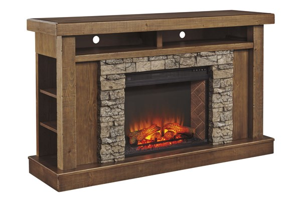 Tamilo Casual Medium Brown Solid Wood Fireplace Surround W714-68