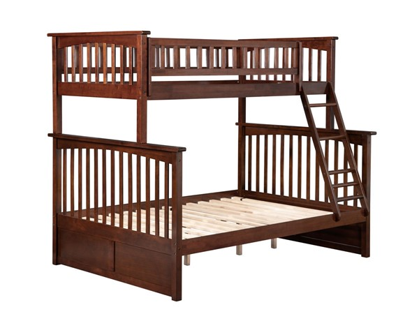 Atlantic Furniture Columbia Walnut Twin Over Full Bunk Bed AB55204