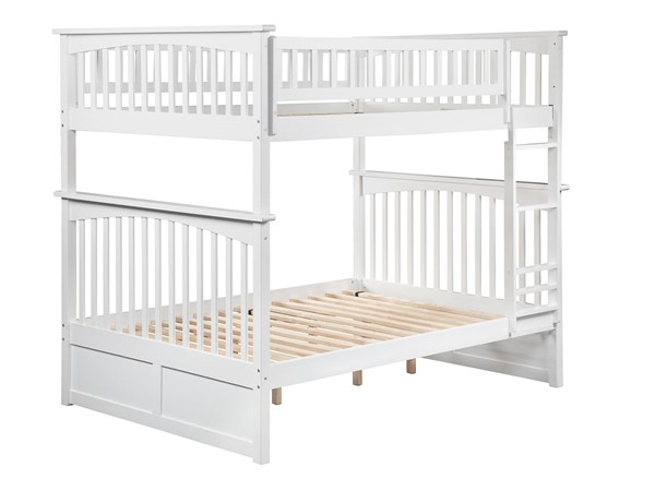Atlantic Furniture Columbia White Full Over Full Bunk Bed AB55502