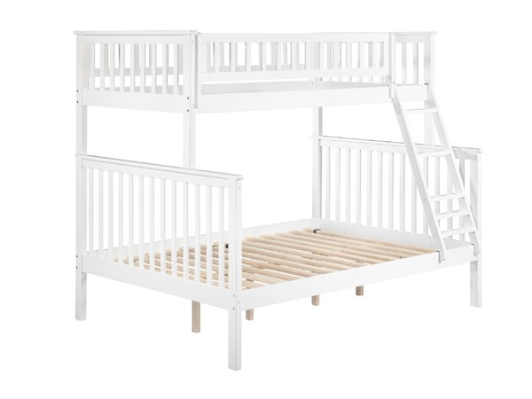 Atlantic Furniture Woodland White Twin Over Full Bunk Bed AB56202