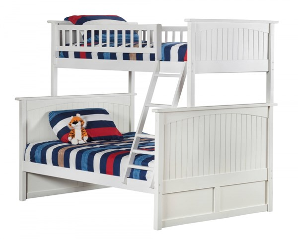 Atlantic Furniture Nantucket White Twin Over Full Bunk Bed AB59202