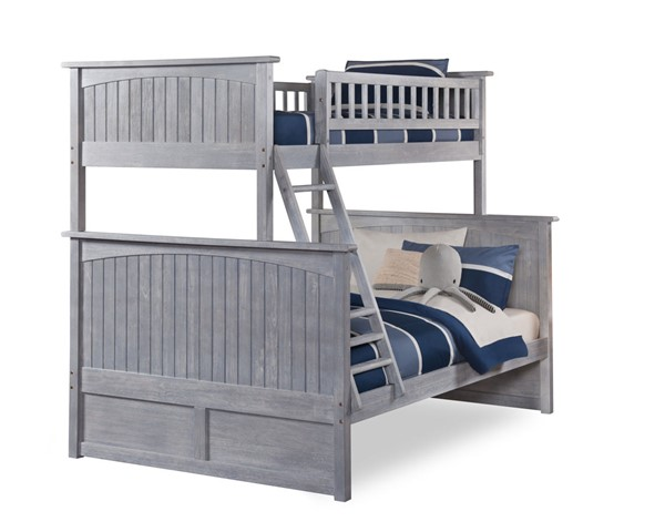 Atlantic Furniture Nantucket Driftwood Twin Over Full Bunk Bed AB59208