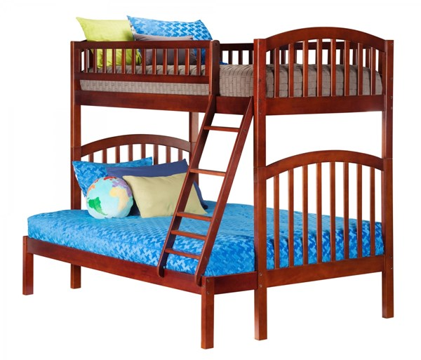 Atlantic Furniture Richland Walnut Twin Over Full Bunk Bed AB64204