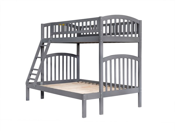 Atlantic Furniture Richland Grey Twin over Full Bunk Bed AB64209