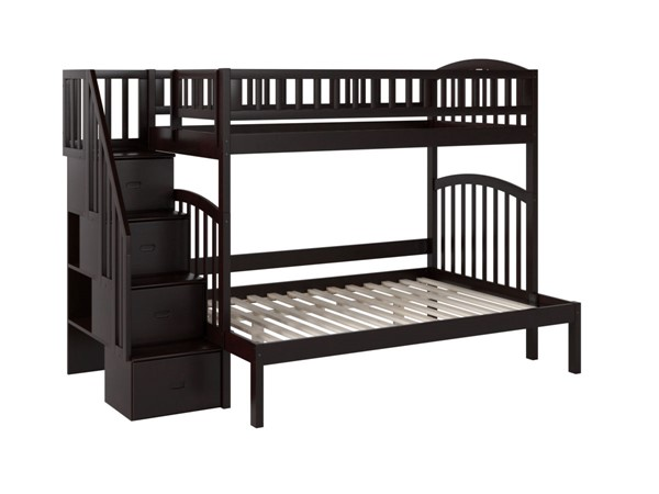 Atlantic Furniture Westbrook Espresso Twin Over Full Staircase Bunk Bed AB65701