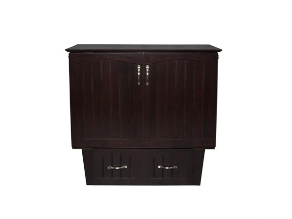 Atlantic Furniture Nantucket Espresso Twin Murphy Bed Chest With Cool Soft Mattress AC592141