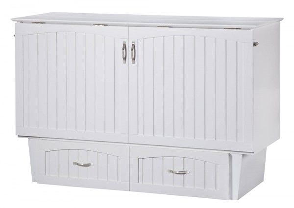 Nantucket White Espresso Wood Storage Queen Murphy Chest Bed AC594000-CHESTBED-VAR