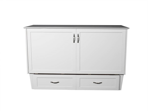 Atlantic Furniture Madison White Queen Murphy Chest Bed