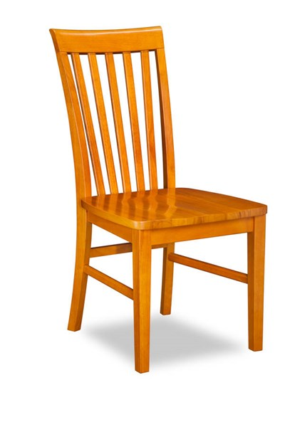 2 Mission Caramel Latte Solid Wood Seat Dining Chairs AD771147