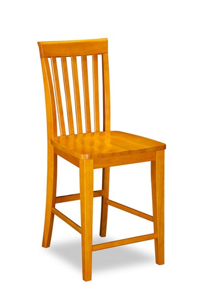 2 Mission Caramel Latte Solid Wood Seat Pub Chairs AD771247