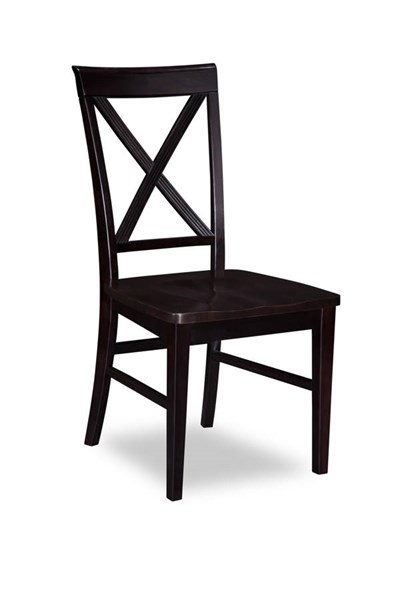 2 Lexi Espresso Solid Wood Seat Dining Chairs AD772141