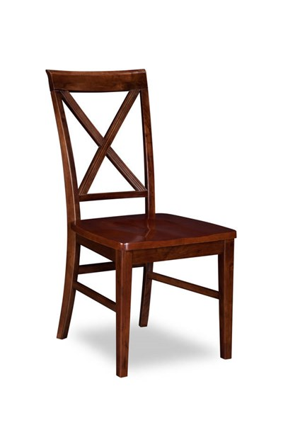 2 Lexi Walnut Solid Wood Seat Dining Chairs AD772144