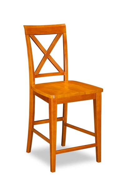 2 Lexi Caramel Latte Solid Wood Seat Pub Chairs AD772247