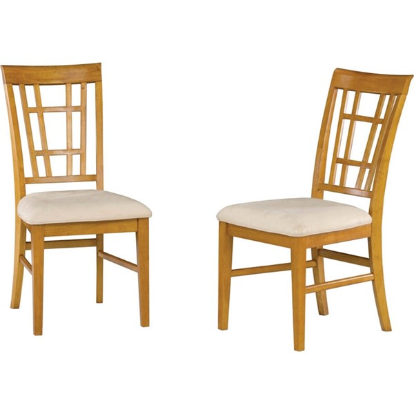 Montego Bay Caramel Latte Dining Chairs w/Oatmeal Cushions Seat AD773107