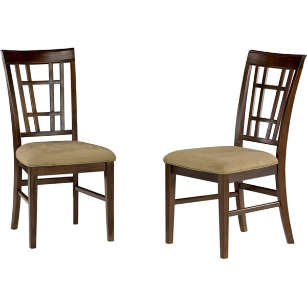 Montego Bay Antique Walnut Dining Chairs w/Cappucino Cushions Seat AD773134