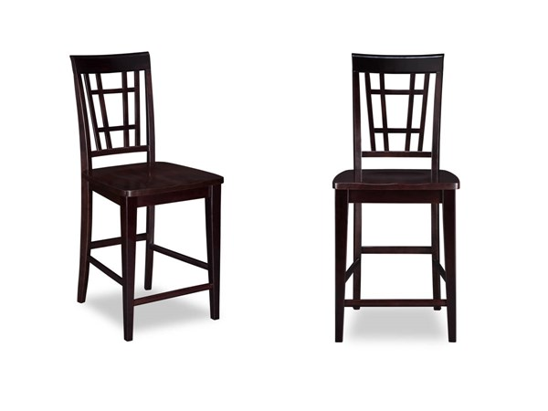 2 Montego Bay Espresso Solid Wood Seat Pub Chairs AD773241