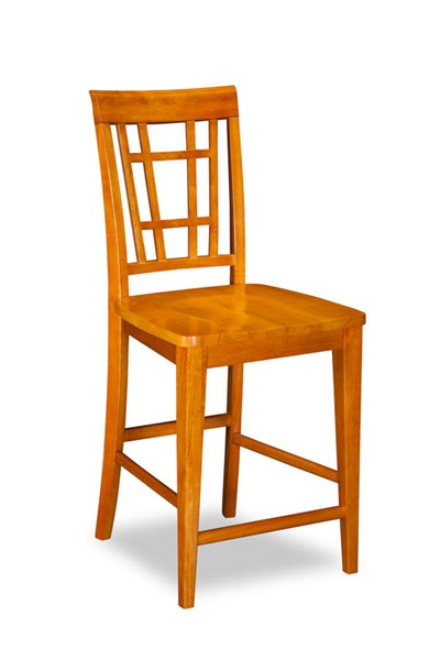 2 Montego Bay Caramel Latte Solid Wood Seat Pub Chairs AD773247
