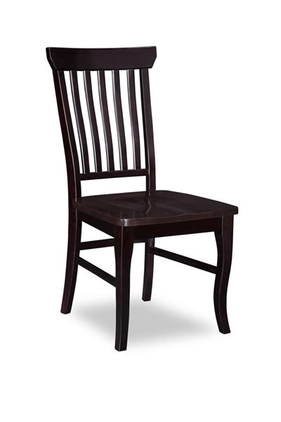 2 Venetian Espresso Solid Wood Seat Dining Chairs AD775141