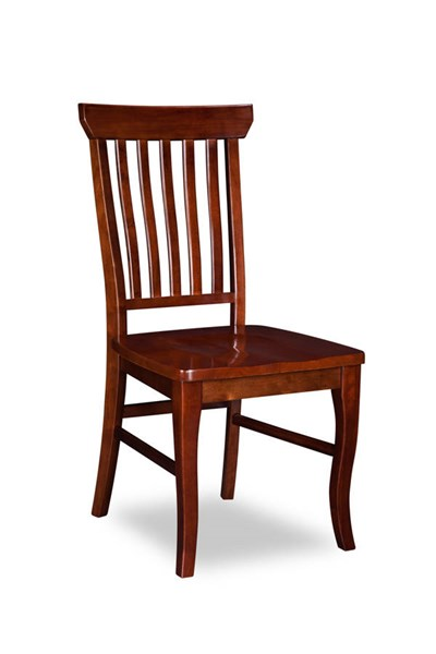 2 Venetian Walnut Solid Wood Seat Dining Chairs AD775144
