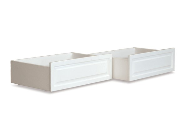 Atlantic Furniture White Raised Panel Twin Full Bed Drawers Only AE663032