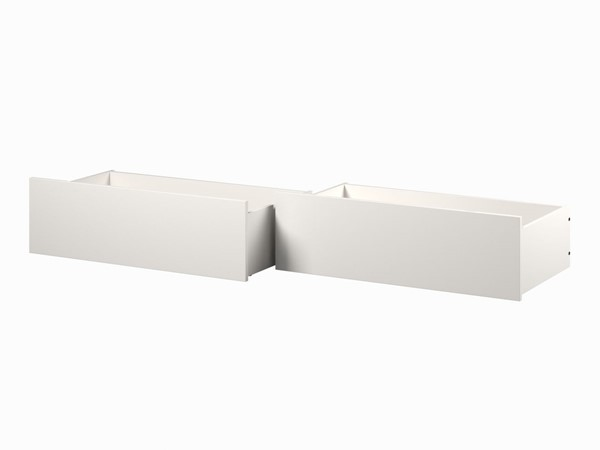 Atlantic Furniture White Urban Twin Full Bed Drawers Only AE663132