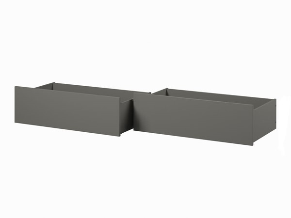 Atlantic Furniture Grey Urban Queen King Bed Drawers Only AE663149