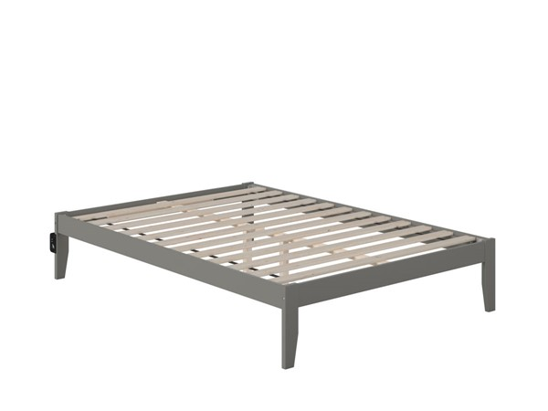 Atlantic Furniture Colorado Grey Full Bed with USB Turbo Charger AG8010039