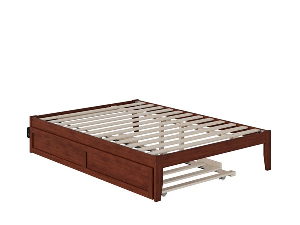 Atlantic Furniture Colorado Walnut Full Bed with USB Turbo Charger and Twin Trundle AG8011234