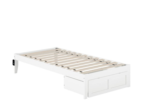 Atlantic Furniture Colorado Beds with Foot Drawer and USB Turbo Charger AG801222-DWR-BEDS-VAR