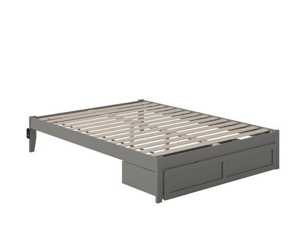 Atlantic Furniture Colorado Grey Queen Bed with Foot Drawer and USB Turbo Charger AG8012249
