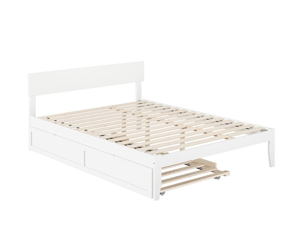 Atlantic Furniture Boston White Queen Bed with Twin XL Trundle AG8111142