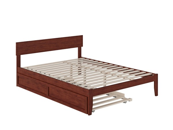 Atlantic Furniture Boston Walnut Queen Bed with Twin XL Trundle AG8111144