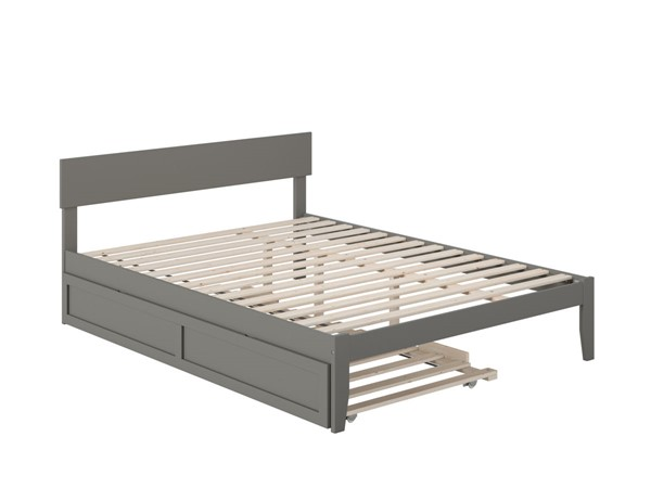 Atlantic Furniture Boston Grey Queen Bed with Twin XL Trundle AG8111149