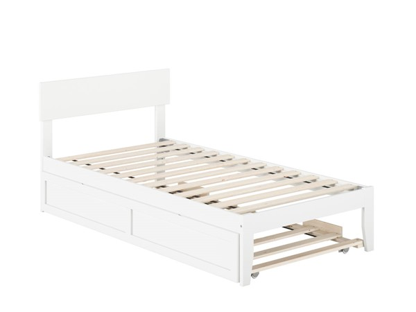 Atlantic Furniture Boston White Twin Bed with Twin Trundle AG8111222