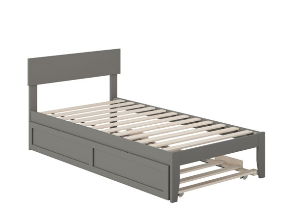 Atlantic Furniture Boston Grey Twin Bed with Twin Trundle AG8111229