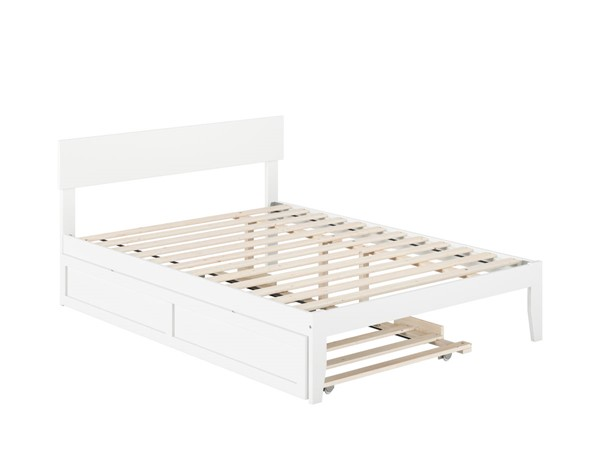 Atlantic Furniture Boston White Full Bed with Twin Trundle AG8111232