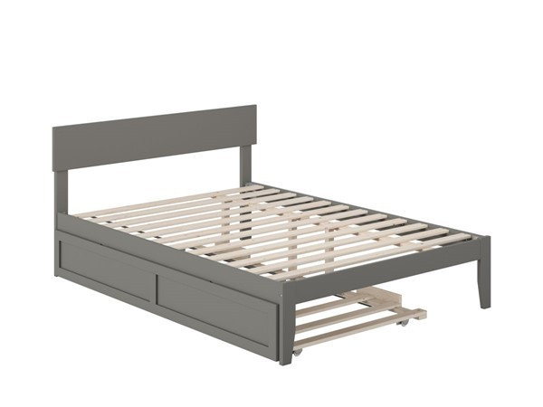 Atlantic Furniture Boston Grey Full Bed with Twin Trundle AG8111239